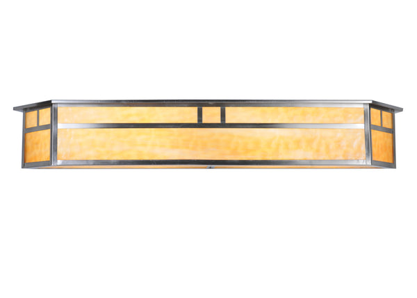 "Country Style Wall Sconce Lighting Meyda 106393 - 38""W Hyde Park Double Bar Mission Vanity Light"