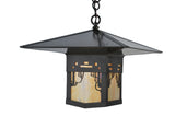 "Rustic Log Cabin Ceiling Lights Meyda 106826 - 16""Sq Seneca Victorian Web Pendant Light"