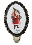"Farmhouse Novelty Lamps And Accessories Meyda 107256 - 3.5""W Christmas Father Christmas & Friends Fused Oval Night Light"