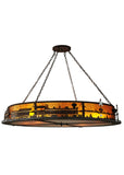 "Farmhouse Style Ceiling Lights Meyda 107264 - 72""W Train Inverted Pendant Light"