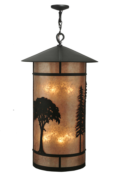 "Cabin Ceiling Lights Meyda 107335 - 34""W Forest Lantern Pendant Light"