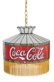 "Rustic Cabin Ceiling Lights Meyda 107458 - 16""W Coca-Cola Fringed Pendant Light"