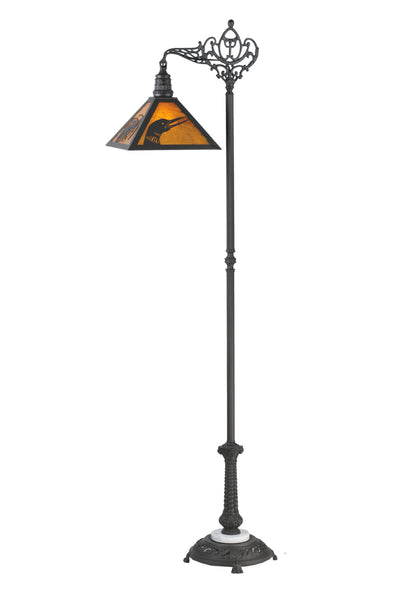"Modern Log Cabin Floor Lamps Meyda 107463 - 68.5""H Loon Pine Needle Floor Lamp"