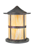 "Rustic Farmhouse Style Outdoor Lighting Meyda 107851 - 18""W Fulton Pier Mount"