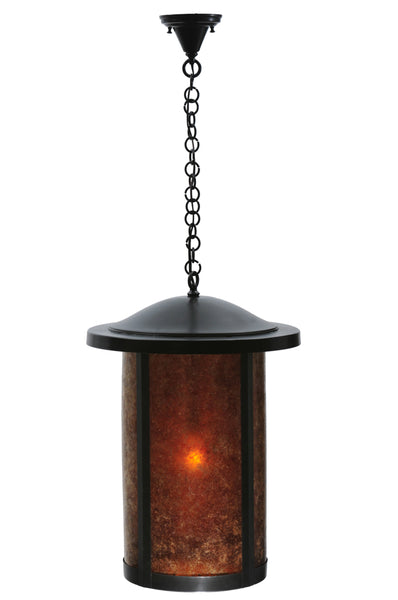 "Rustic Cabin Style Ceiling Lights Meyda 108098 - 18""W Fulton Prime Hanging Lantern Pendant Light"