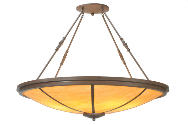 "Modern Log Cabin Style Ceiling Lights Meyda 108105 - 48""W Commerce Inverted Pendant Light"