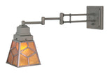"Rustic Country Wall Sconce Lighting Meyda 108400 - 5-14""W Diamond Craftsman Swing Arm Wall Sconce"