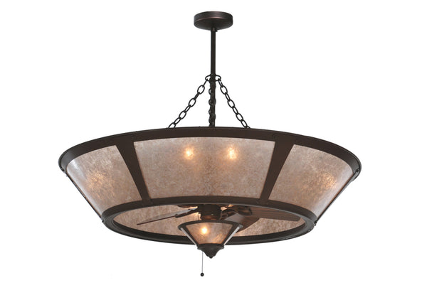 "Modern Country Style Ceiling Lights Meyda 108444 - 49""W Van Erp w/Fan Light Chandel-Air"