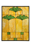 "Rustic Cabin Windows Meyda 108947 - 20""W x 25""H Ginko Stained Glass Window"