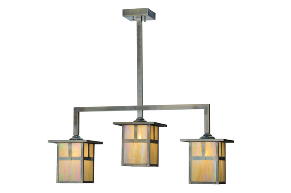 "Rustic Log Cabin Ceiling Lights Meyda 109246 - 38""L Hyde Park T Mission 3 LT Island Pendant Light"