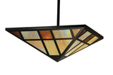 "Rustic Cabin Style Ceiling Lights Meyda 109360 - 36""Sq Polaris Inverted Pendant Light"