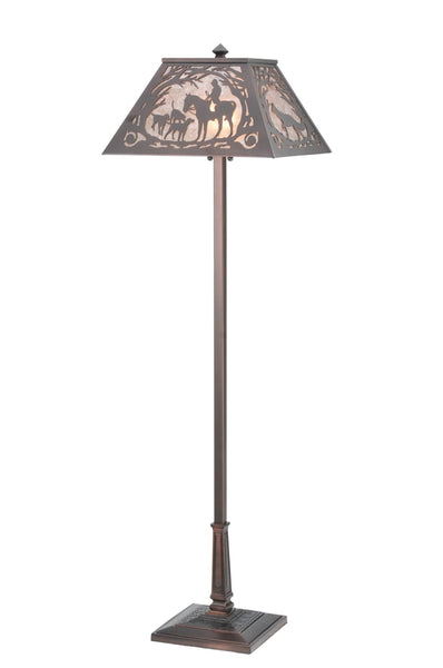"Lodge Style Floor Lamps Meyda 110194 - 60""H Fox Hunt Floor Lamp"