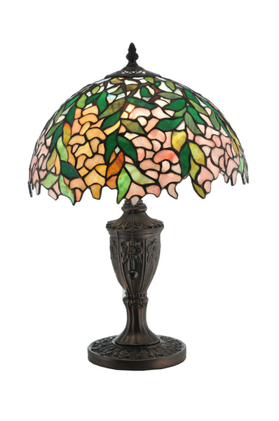 "Modern Cabin Style Table Lamps Meyda 110324 - 18""H Tiffany Laburnum Accent Lamp"