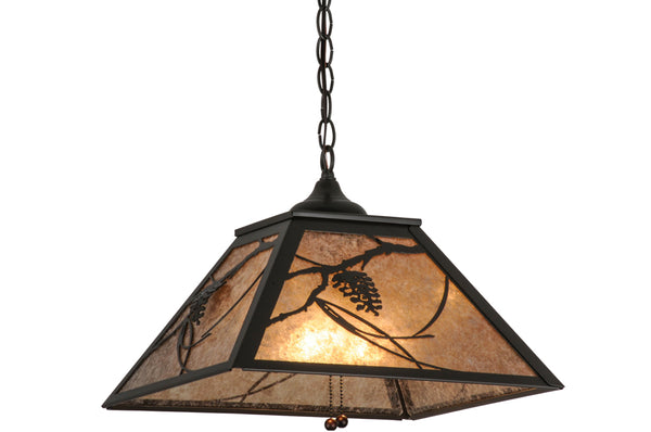 "Modern Farmhouse Style Ceiling Lights Meyda 110859 - 16""Sq Whispering Pines Pendant Light"