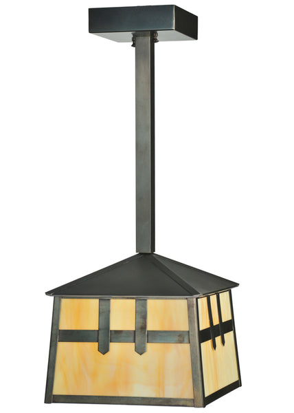 "Rustic Style Ceiling Lights Meyda 110941 - 10""Sq Stillwater Double Cross Mission Mini Pendant Light"