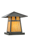"Log Cabin Style Pier Mount Lights Meyda 111022 - 12""Sq Stillwater T Mission Pier Mount"