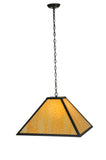 "Modern Rustic Ceiling Lights Meyda 111039 - 24""Sq Gustav Mission Pendant Light"