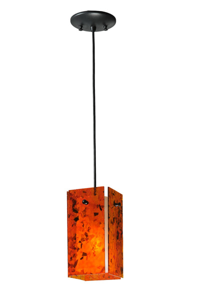 "Cabin Style Ceiling Lights Meyda 111290 - 5""Sq Metro Magma Quadrato Mini Pendant Light"