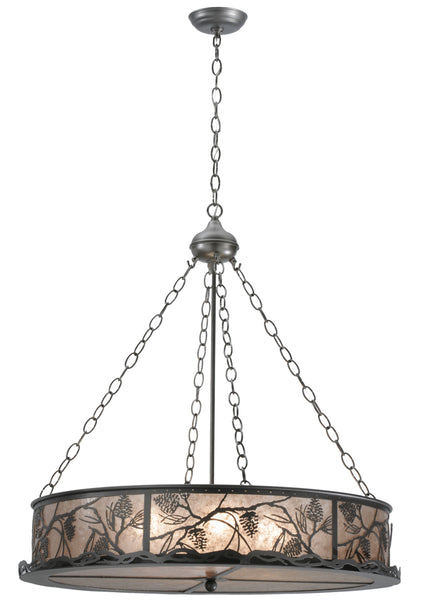 "Rustic Farmhouse Ceiling Lights Meyda 111316 - 30""W Whispering Pines Inverted Pendant Light"