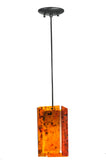 "Modern Lodge Style Ceiling Lights Meyda 111348 - 5""Sq Metro Magma Quadrato Mini Pendant Light"