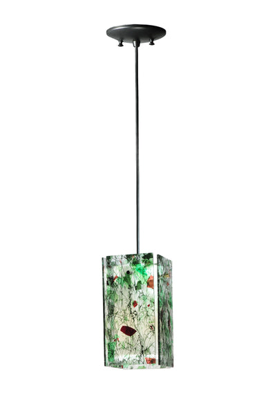 "Rustic Country Style Ceiling Lights Meyda 111351 - 5""Sq Metro Parade Quadrato Mini Pendant Light"