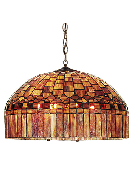 "Rustic Style Ceiling Lights Meyda 111695 - 22""W Tiffany Candice Pendant Light"