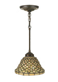 "Modern Rustic Ceiling Lights Meyda 111706 - 8""W Diamond & Jewel Mini Pendant Light"