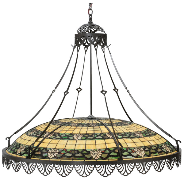 "Log Cabin Style Ceiling Lights Meyda 112090 - 43""W Shell and Ribbon Pendant Light"