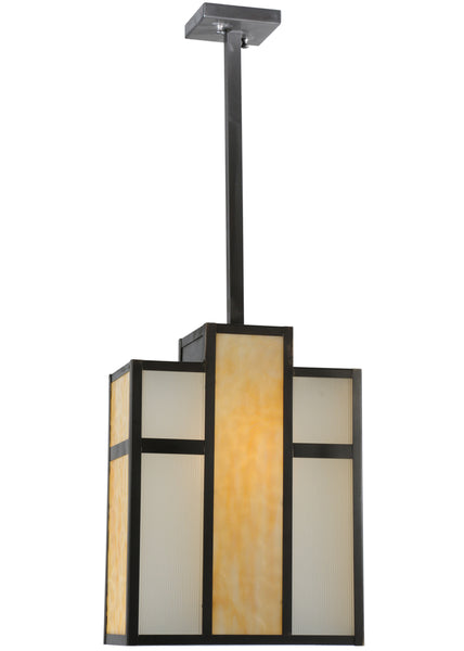 "Modern Log Cabin Ceiling Lights Meyda 112209 - 12""L Oah Oblong Pendant Light"
