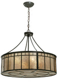 "Modern Rustic Ceiling Lights Meyda 112438 - 24""W Glendale Mission Inverted Pendant Light"