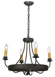 "Modern Farmhouse Style Ceiling Lights Meyda 112632 - 25""W Franciscan 4 LT Chandelier"