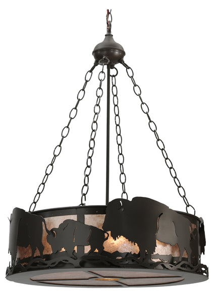 "Modern Farmhouse Ceiling Lights Meyda 112938 - 24""W Buffalo Inverted Pendant Light"