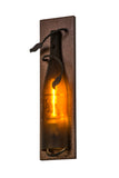 "Rustic Lodge Wall Sconce Lighting Meyda 113003 - 4.5""W Tuscan Vineyard Wine Bottle Wall Sconce"