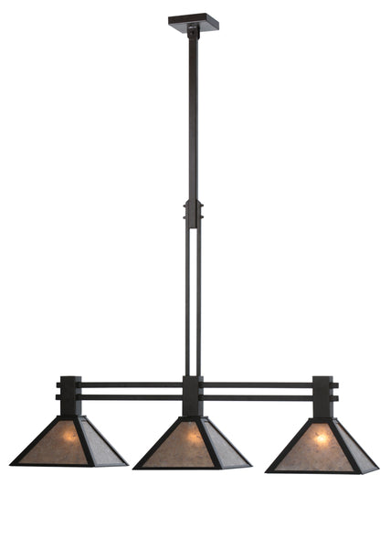 "Rustic Lodge Style Ceiling Lights Meyda 113066 - 45""L Soffe Mission 3 LT Island Pendant Light"