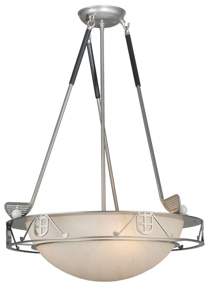 "Rustic Lodge Ceiling Lights Meyda 113230 - 20""W Golf Inverted Pendant Light"