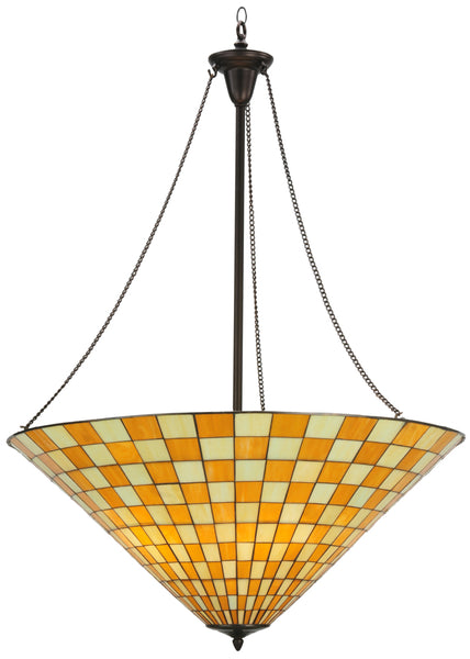 "Country Ceiling Lights Meyda 113530 - 35""W Marcel Inverted Pendant Light"