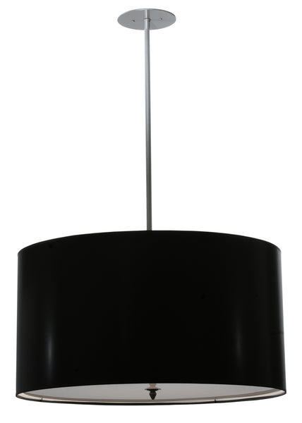 "Modern Log Cabin Ceiling Lights Meyda 113851 - 32""W Cilindro Black Paper Pendant Light"