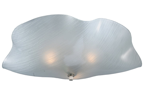 "Modern Rustic Ceiling Lights Meyda 114165 - 16""W Metro Mist Organic Art Glass Flushmount Light"