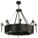 "Rustic Cabin Style Ceiling Lights Meyda 114422 - 52""W Costello Chandel-Air"