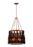 "Cabin Ceiling Lights Meyda 114513 - 19""W Tuscan Vineyard Estate 16 Wine Bottle Chandelier"
