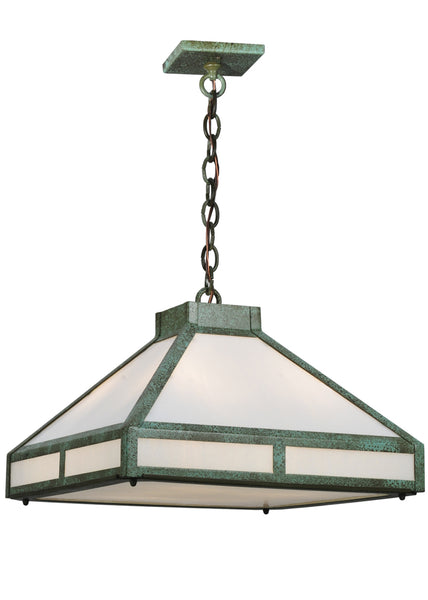 "Farmhouse Style Ceiling Lights Meyda 114840 - 18""Sq Whitewing Prime Pendant Light"