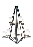 "Rustic Log Cabin Ceiling Lights Meyda 115096 - 60""W Galen 12 Lt Two Tier Chandelier"