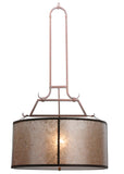 "Rustic Farmhouse Style Ceiling Lights Meyda 115195 - 26""W Cilindro Embellir Inverted Pendant Light"