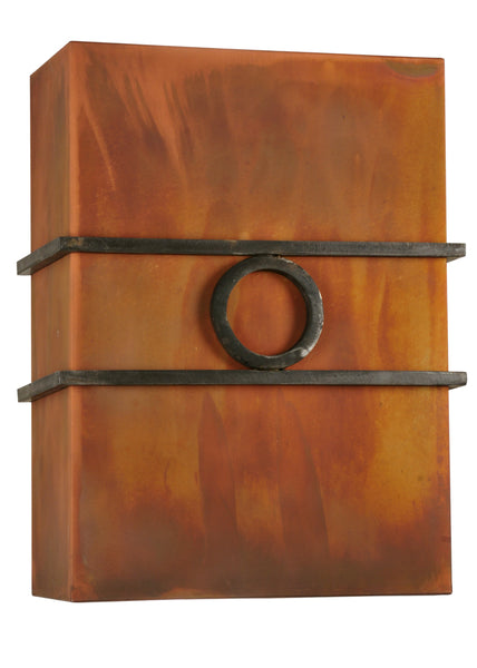 "Rustic Style Wall Sconce Lighting Meyda 115257 - 10""W Bandino Wall Sconce"