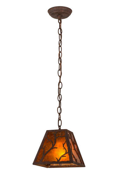 "Rustic Farmhouse Ceiling Lights Meyda 115336 - 8""Sq Branches Pendant Light"