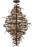 "Rustic Country Ceiling Lights Meyda 115340 - 56""W Cyclone 28 LT Chandelier"