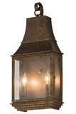 "Rustic Log Cabin Wall Sconce Lighting Meyda 115726 - 10""W Bastille Pocket Lantern Wall Sconce"