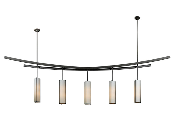 "Modern Country Style Ceiling Lights Meyda 115762 - 139""L Solaris 5 LT Pendant Light"