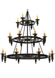 "Rustic Country Style Ceiling Lights Meyda 116151 - 60""W Carella 20 LT Three Tier Chandelier"