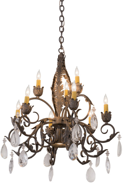 "Cabin Ceiling Lights Meyda 116318 - 26""W New Country French 9 LT Chandelier"